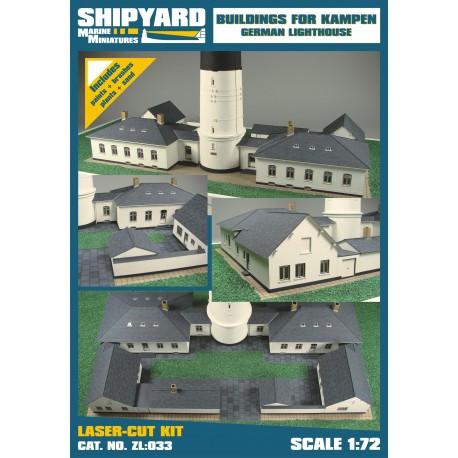 ZL:033 Buildings for lighthouse Kampen 1:72