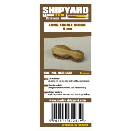 ASB:032 Long Tackle Blocks 4 mm