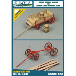 ZL:042 Horse Barrel Wagon and Horse Cart Running Gear