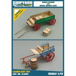 ZL:043 Horse Wagon and Drawn Cart