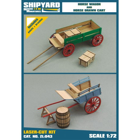 ZL:043 Horse Wagon and Drawn Cart