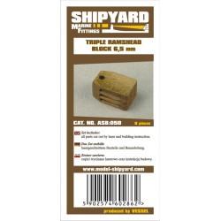 ASB:038 Triple Ramshead Blocks 5,5 mm