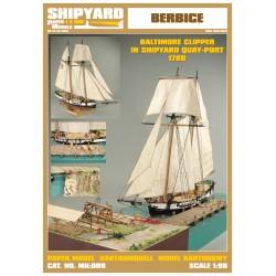 MK:009 Baltimore Clipper Berbice in Shipyard Quay-Port 1780 No. 38