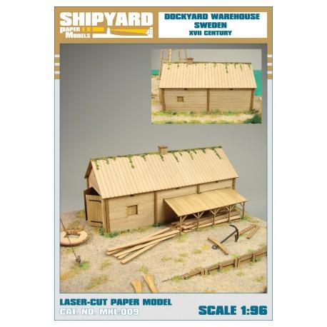 ML:100 Dockyard warehouse - Sweden XVII Century 1:96