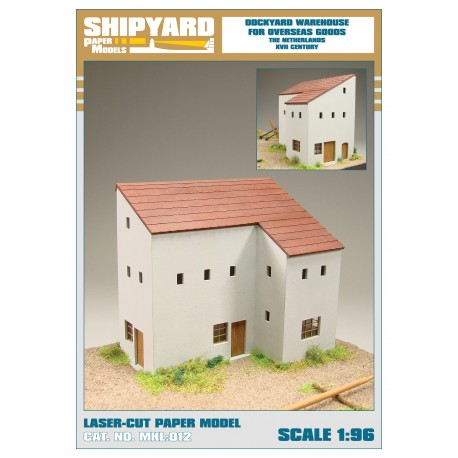 ML:106 Dockyard warehouse for overseas goods - The Netherlands XVII century 1:96
