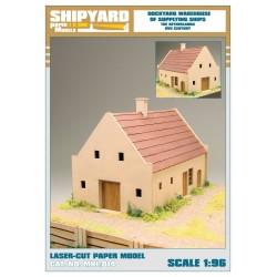 ML:110 Dockyard warehouse of supplying ships - The Netherlands XVII Century 1:96