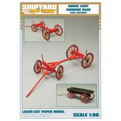 ML:068 Horse Cart Running Gear 1:96