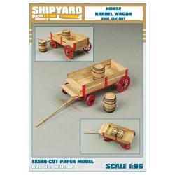 ML:081 Horse Barrel Wagon scale 1:96