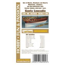AS:023 Komplet Bloków, Jufersów oraz serc Santa Leocadia