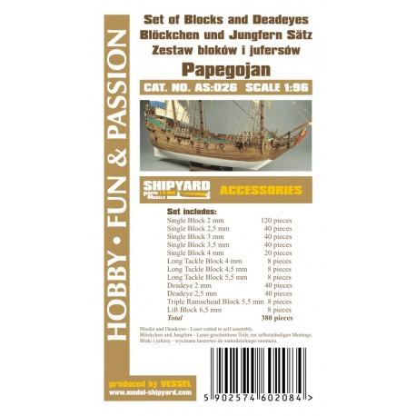 AS:026 Set of Blocks Deadeyes and hearts Papegojan