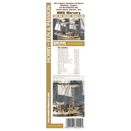 AS:027 Komplet Bloków, Jufersów oraz serc HMS Mercury