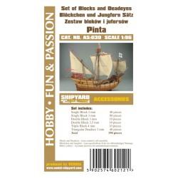 AS:030 Set of Blocks Deadeyes and hearts Pinta