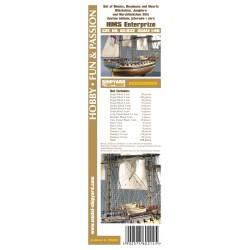 AS:032 Set of Blocks Deadeyes and hearts HMS Enterprize
