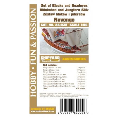AS:038 Set of Blocks Deadeyes and hearts Revenge