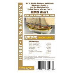 AS:044 Set of Blocks Deadeyes and hearts HMS Alert