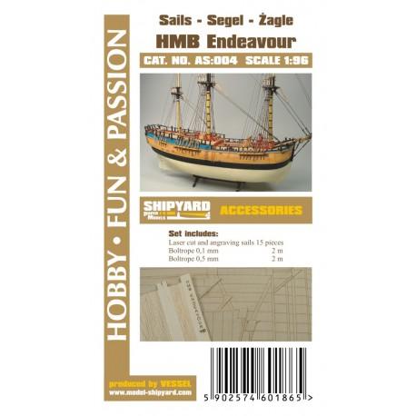 AS:004 Sails HM Bark Endeavour