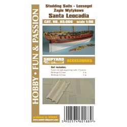 AS:006 Santa Leocadia - studding sails