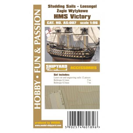 AS:007 HMS Victory - studding sails