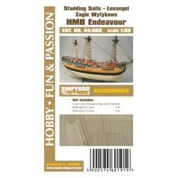 AS:009 HM Bark Endeavour - studding sails