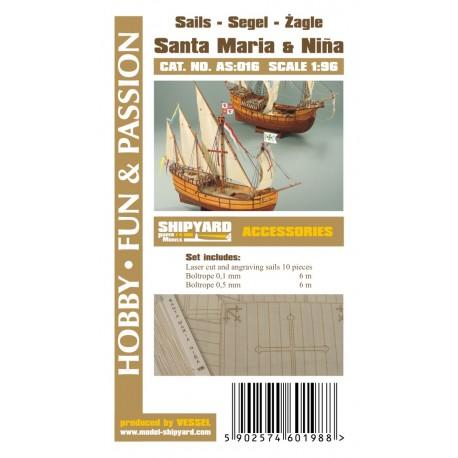 AS:016 Sails Santa Maria and Nina