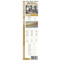 AS:015 Accesories for making Masts and Yards HMS Mercury