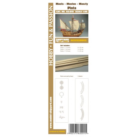 AS:019 Accesories for making Masts and Yards Pinta