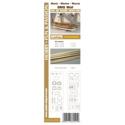 AS:040 Accesories for making Masts and Yards HMS Wolf