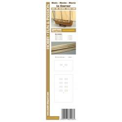 AS:046 Masten mit Lasercut Detailsatz Le Coureur