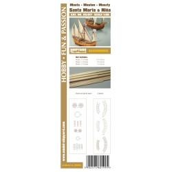AS:017 Accesories for making Masts and Yards Santa Maria and Nina