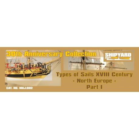 MKJ:002 Types of Sails XVIII Century - North Europe Part 1